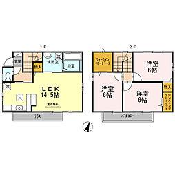 [タウンハウス] 東京都立川市柏町4丁目 の賃貸【東京都 / 立川市】の間取り