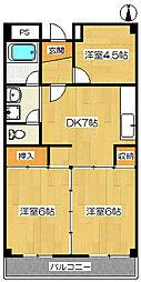 丸清マンション[3階]の間取り