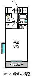 パークサイドビル[4階]の間取り