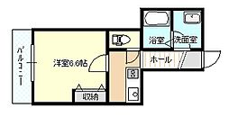 レジデンス早稲田[203号室]の間取り