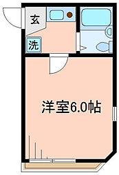 東京都足立区中川3の賃貸アパートの間取り