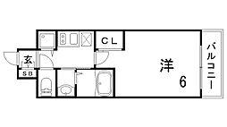 エステムコート三宮EASTIVザ・フロント[13階]の間取り