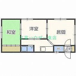 北海道札幌市東区北四十二条東3丁目の賃貸アパートの間取り