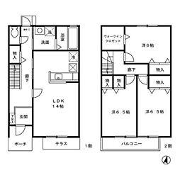 [タウンハウス] 東京都八王子市北野町 の賃貸【/】の間取り