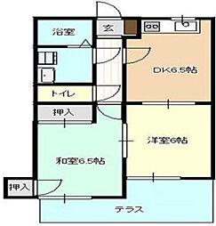 神奈川県大和市西鶴間4の賃貸アパートの間取り