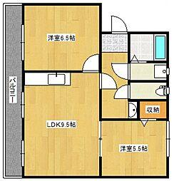 コンチェルト東合川II[4階]の間取り