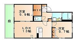 ドルチェヤヒロ[1階]の間取り