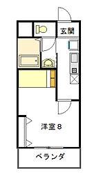 ヴェルドミール[1階]の間取り