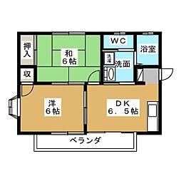 サンピュアセナ[2階]の間取り