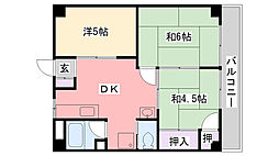 ブルースカイマンション[301号室]の間取り