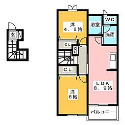 セレーノR・K[2階]の間取り