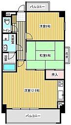 福岡県福岡市早良区百道1丁目の賃貸マンションの間取り