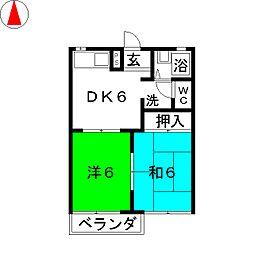 セレクト21B[1階]の間取り
