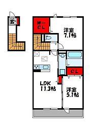 D-room篠栗[2階]の間取り