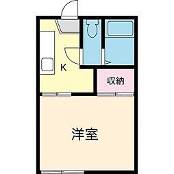 シティ9[1階]の間取り
