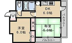 あゆみハイツ[201号室]の間取り