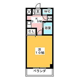 ホワイトクラウドII[3階]の間取り