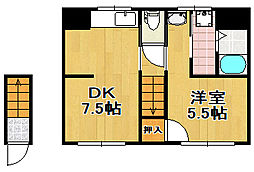 [一戸建] 大阪府大阪市西成区梅南3丁目 の賃貸【/】の間取り