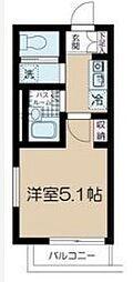 JR中央線 高円寺駅 徒歩9分の賃貸マンション 1階ワンルームの間取り
