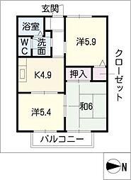 サニーコート亀崎 A棟[2階]の間取り