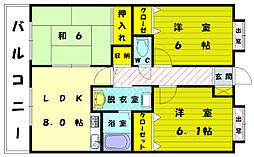 バニーメドー弐番館[5階]の間取り