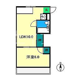 武田マンション[3階]の間取り