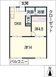 グリーンパークI[1階]の間取り