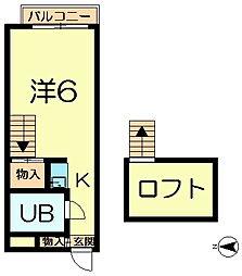 ペントハウス富雄[1階]の間取り