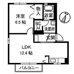 リッシュ良庵 II[203号室]の間取り