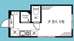 神奈川県横浜市中区上野町1丁目の賃貸アパートの間取り