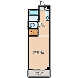 福岡県久留米市日ノ出町の賃貸アパートの間取り