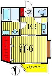ラ・グラス[1階]の間取り