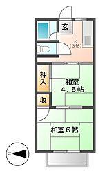 シティハイム田中[2階]の間取り