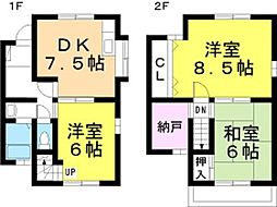 兵庫県姫路市青山北3丁目の賃貸アパートの間取り