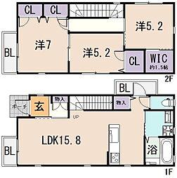 [一戸建] 大阪府東大阪市菱屋西2丁目 の賃貸【/】の間取り