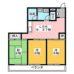 Kyoei Bld[2階]の間取り