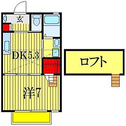 千葉県船橋市西船6丁目の賃貸アパートの間取り