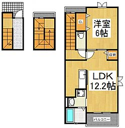 アレーズII[3階]の間取り