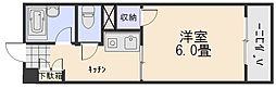 広島県広島市安佐南区上安2の賃貸マンションの間取り