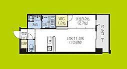 PHOENIX Clove Tomoi 10階1Kの間取り