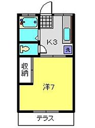 神奈川県横浜市南区永田東1丁目の賃貸アパートの間取り
