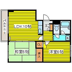 北海道札幌市東区北三十条東13丁目の賃貸マンションの間取り