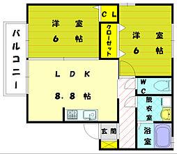 リビングタウンYOUTH C棟[1階]の間取り