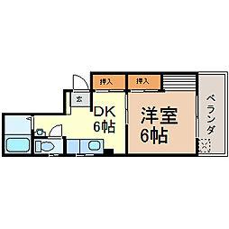山田ビル[401号室]の間取り