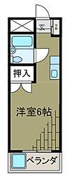 コーポラスヤマテ[2階]の間取り