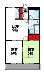 プロニティS[2階]の間取り