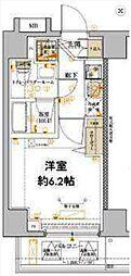 横浜市営地下鉄ブルーライン 吉野町駅 徒歩4分の賃貸マンション 9階1Kの間取り
