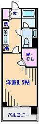 ParkAxis西船橋本郷町[416号室]の間取り
