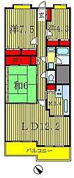 フォレスト早稲田[1階]の間取り
