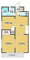 三富子壱番館[2階]の間取り